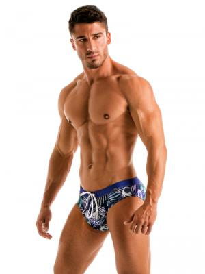 Geronimo Briefs, Item number: 1903s2 Blue Shell Swim Brief, Color: Blue, photo 3