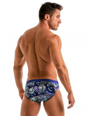 Geronimo Briefs, Item number: 1903s2 Blue Shell Swim Brief, Color: Blue, photo 5