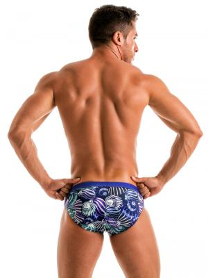 Geronimo Briefs, Item number: 1903s2 Blue Shell Swim Brief, Color: Blue, photo 6