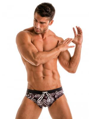 Geronimo Briefs, Item number: 1903s2 Dark Shell Swim Brief, Color: Black, photo 2