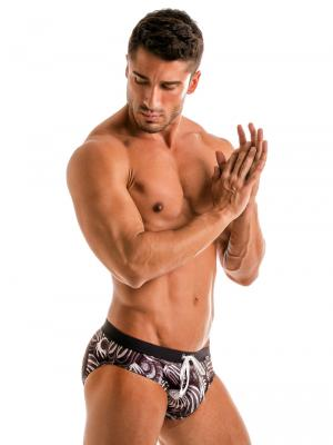 Geronimo Briefs, Item number: 1903s2 Dark Shell Swim Brief, Color: Black, photo 3