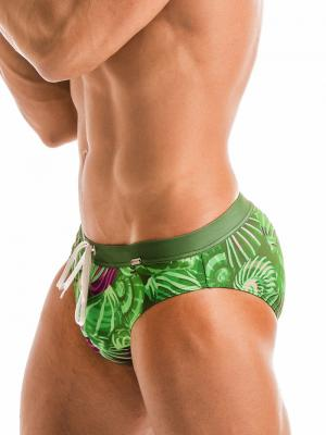 Geronimo Briefs, Item number: 1903s2 Green Shell Swim Brief, Color: Green, photo 1
