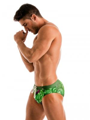 Geronimo Briefs, Item number: 1903s2 Green Shell Swim Brief, Color: Green, photo 2