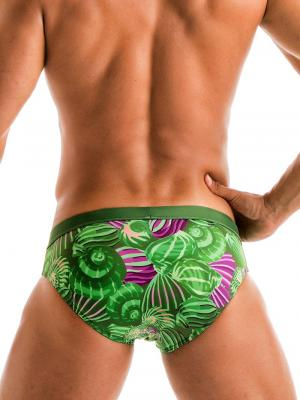 Geronimo Briefs, Item number: 1903s2 Green Shell Swim Brief, Color: Green, photo 3