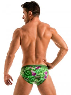 Geronimo Briefs, Item number: 1903s2 Green Shell Swim Brief, Color: Green, photo 4