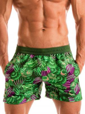 Geronimo Swim Shorts, Item number: 1903p1 Green Shell Swim Short, Color: Green, photo 1