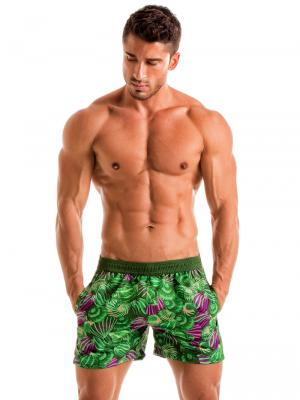 Geronimo Swim Shorts, Item number: 1903p1 Green Shell Swim Short, Color: Green, photo 2