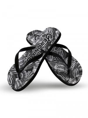 Geronimo Flip Flops, Item number: 1903f1 Dark Shell Flip flops, Color: Black, photo 2