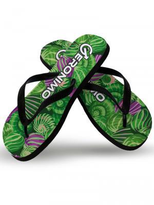 Geronimo Flip Flops, Item number: 1903f1 Green Shell Flip flops, Color: Green, photo 1