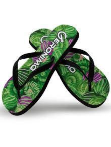 Flip Flops, Geronimo, Item number: 1903f1 Green Shell Flip flops