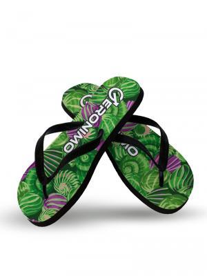Geronimo Flip Flops, Item number: 1903f1 Green Shell Flip flops, Color: Green, photo 2