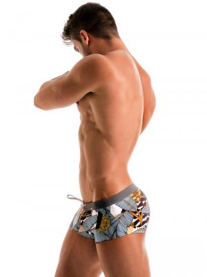 Geronimo Square Shorts, Item number: 1906b2 Palm Square Trunk, Color: Multi, photo 3