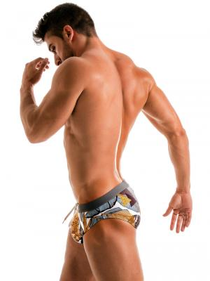 Geronimo Briefs, Item number: 1906s2 Palm Swim Brief, Color: Multi, photo 3