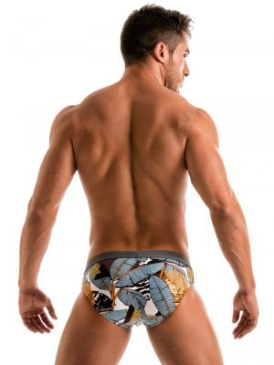 Geronimo Briefs, Item number: 1906s2 Palm Swim Brief, Color: Multi, photo 6