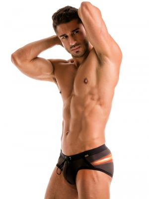 Geronimo Briefs, Item number: 1911s4 Flash Swim Brief, Color: Black, photo 3