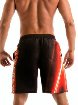 Geronimo Board Shorts, Item number: 1911p4 Flash Surf Boardshort, Color: Black, photo 5