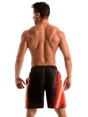 Geronimo Board Shorts, Item number: 1911p4 Flash Surf Boardshort, Color: Black, photo 6