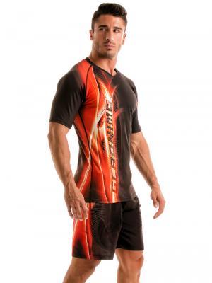 Geronimo T shirts, Item number: 1911t5 Black Flash T-shirt for Men, Color: Black, photo 4
