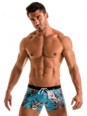 Geronimo Boxers, Item number: 1908b1 Blue Pineapple Trunk, Color: Blue, photo 2