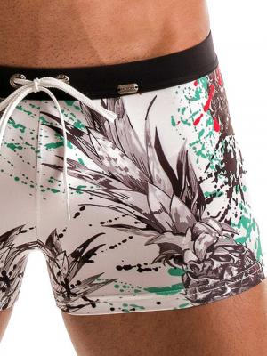 Geronimo Boxers, Item number: 1908b1 White Pineapple Trunk, Color: White, photo 5