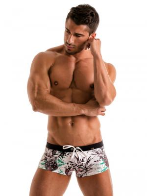 Geronimo Square Shorts, Item number: 1908b2 White Pineapple Hipster, Color: White, photo 2