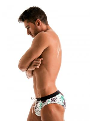 Geronimo Briefs, Item number: 1908s2 White Pineapple Brief, Color: White, photo 3