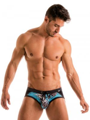 Geronimo Briefs, Item number: 1908s4 Blue Pineapple Brief, Color: Blue, photo 2