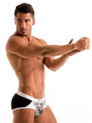 Geronimo Briefs, Item number: 1908s4 White Pineapple Brief, Color: White, photo 3