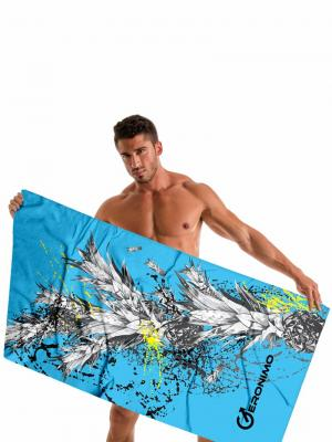 Geronimo Beach Towels, Item number: 1908x1 Blue Pineapple Towel, Color: Blue, photo 2