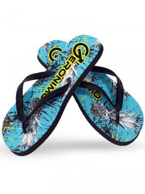 Geronimo Flip Flops, Item number: 1908f1 Blue Pineapple Flip Flop, Color: Blue, photo 1