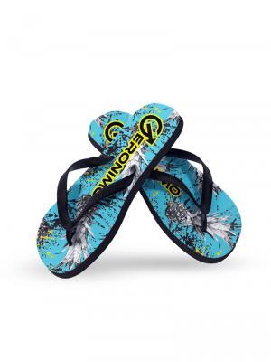 Geronimo Flip Flops, Item number: 1908f1 Blue Pineapple Flip Flop, Color: Blue, photo 2