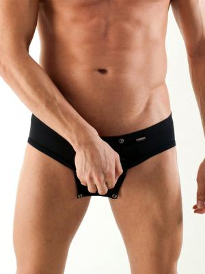Geronimo Briefs, Item number: 1353s2 Black Fetish Brief, Color: Black, photo 1