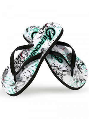 Geronimo Flip Flops, Item number: 1908f1 White Pineapple Flip Flop, Color: White, photo 1