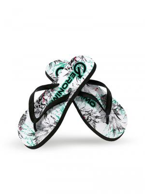 Geronimo Flip Flops, Item number: 1908f1 White Pineapple Flip Flop, Color: White, photo 2