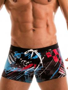 Boxers, Geronimo, Item number: 1910b1 Blue Swim Trunk