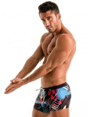 Geronimo Boxers, Item number: 1910b1 Blue Swim Trunk, Color: Blue, photo 4