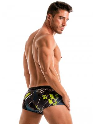 Geronimo Square Shorts, Item number: 1910b2 Green Square Cut Trunk, Color: Green, photo 5