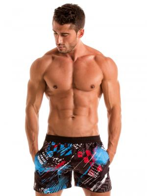 Geronimo Swim Shorts, Item number: 1910p1 Blue Swim Short for men, Color: Blue, photo 2