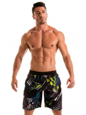 Geronimo Board Shorts, Item number: 1910p4 Green Boardshorts, Color: Green, photo 2