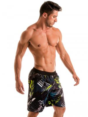 Geronimo Board Shorts, Item number: 1910p4 Green Boardshorts, Color: Green, photo 4