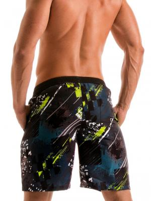 Geronimo Board Shorts, Item number: 1910p4 Green Boardshorts, Color: Green, photo 5