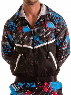 Geronimo Jackets, Item number: 1910v3 Blue Hooded Jacket, Color: Blue, photo 1