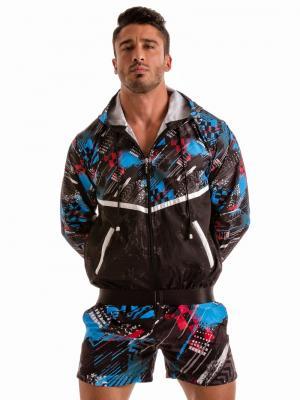 Geronimo Jackets, Item number: 1910v3 Blue Hooded Jacket, Color: Blue, photo 2