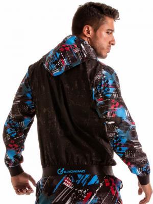 Geronimo Jackets, Item number: 1910v3 Blue Hooded Jacket, Color: Blue, photo 7