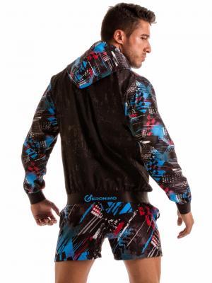 Geronimo Jackets, Item number: 1910v3 Blue Hooded Jacket, Color: Blue, photo 8