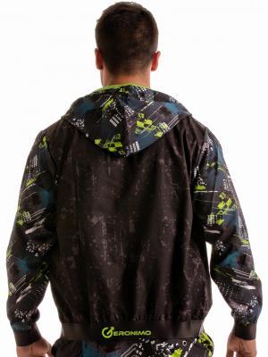 Geronimo Jackets, Item number: 1910v3 Green Hooded Jacket, Color: Green, photo 7