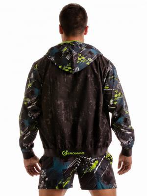 Geronimo Jackets, Item number: 1910v3 Green Hooded Jacket, Color: Green, photo 8