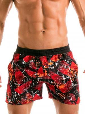 Geronimo Swim Shorts, Item number: 1914p1 Red Swim Short for men, Color: Red, photo 1