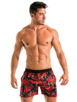 Geronimo Swim Shorts, Item number: 1914p1 Red Swim Short for men, Color: Red, photo 2