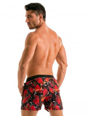 Geronimo Swim Shorts, Item number: 1914p1 Red Swim Short for men, Color: Red, photo 6